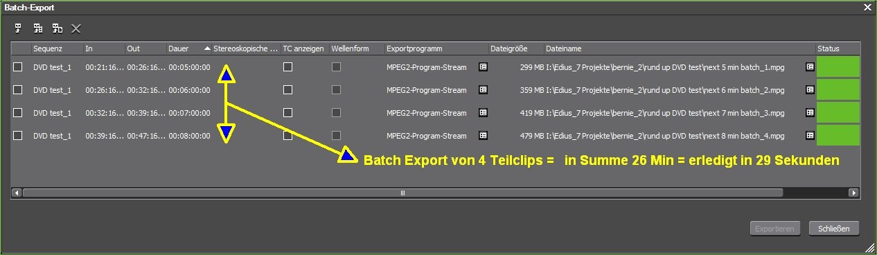 batch export