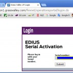 log in with serial