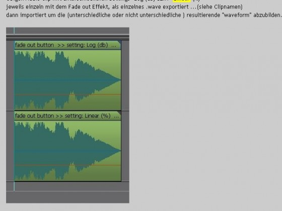 Fade out nach export