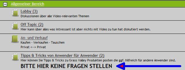 Tipp & Trick Forum  .... BITTE HIER KEINE FRAGEN STELLEN