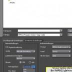 MPEG2  Export mit 80 Mbit per sec